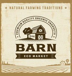Vintage barn label vector