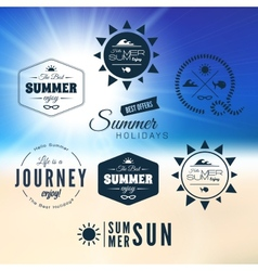 Vintage summer holidays typography design vector image