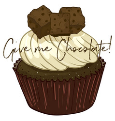 word expression for give me chocolate with vector image vector image