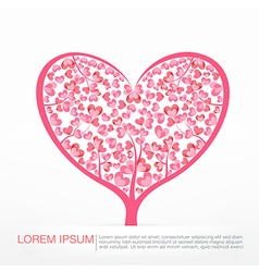 003 heart tree element for valentine day and vector