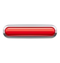 Red rectangular button icon cartoon style vector