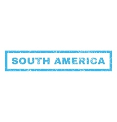 South america rubber stamp vector