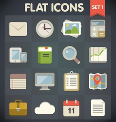Universal flat icons vector