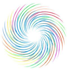 Colourful swirl vector