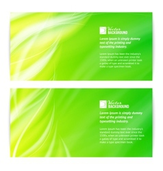 Abstract green light card vector