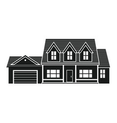 Silhouette suburban american house vector