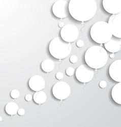 Paper balloons vector
