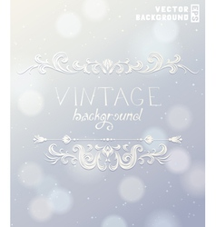 Vintage label for holiday design vector