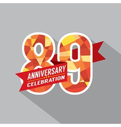 89th Years Anniversary Celebration Design vector image