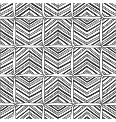 Seamless black and white abstract pattern vector image
