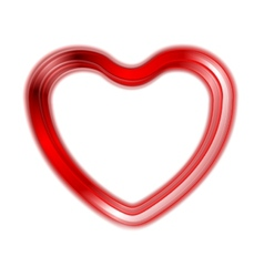 Red glow heart on white background vector