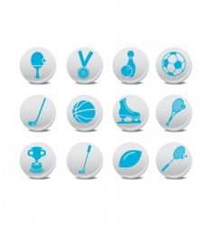 sport icons vector image