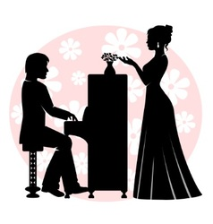 Date in music room vector
