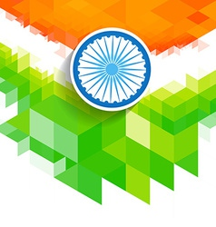 Creative wave indian flag vector