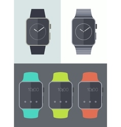 Smart watch icons isolated trendy flat vector