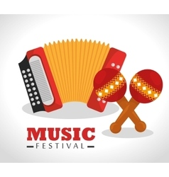 Music festival design vector
