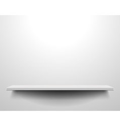 White shelve on wall vector