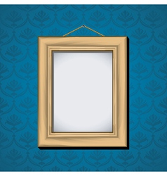 Wooden picture frame vector
