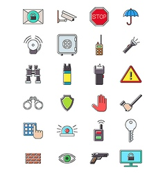 Guard icons set vector