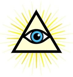 Sign third eye vector
