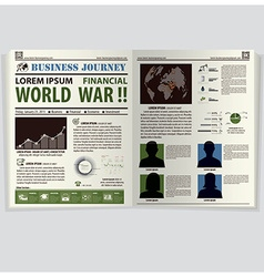 Business journey newspaper lay out vector