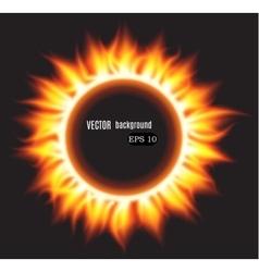 Abstract burning fire circle vector