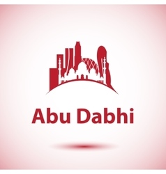 Abu Dhabi skyline Greatest landmarks as vector image vector image