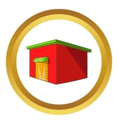 Beer warehouse icon vector