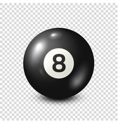 Billiardblack pool ball with number 8snooker vector
