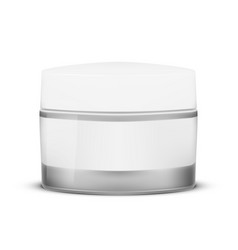Blank clear cosmetic container for cream or gel vector