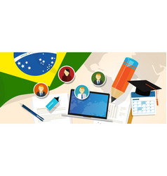 brazil education school university concept with vector image vector image