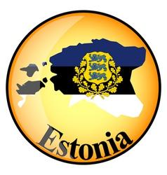button Estonia vector image vector image
