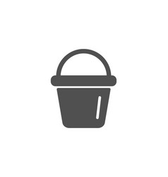 Cleaning bucket simple icon washing equipment vector
