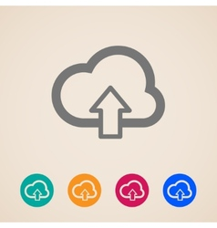 cloud with upload arrow icons vector image