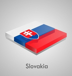 European flags set - slovakia vector