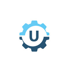Gear solution logo initial u vector