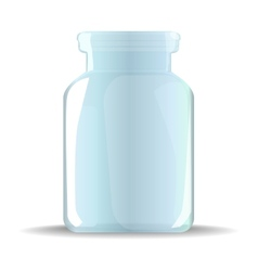 glass jar vector image