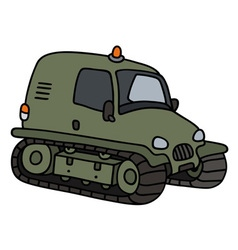 Green tracked vehicle vector