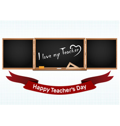 happy national teachers day greeting card vector image