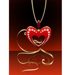 heart pendant vector image