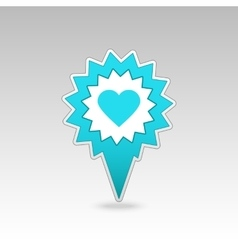 Heart pin map icon Map pointer markers vector image vector image