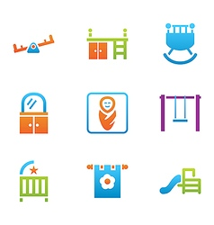 icon set places for child vector image vector image