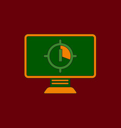 In flat style screen countdown vector