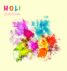 Indian festival holi celebration card with vector