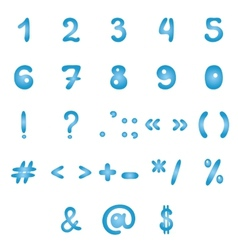 Mathematical signs and typographic symbols vector