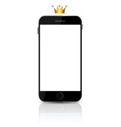 New Realistic mobile phone With White Screen vector image