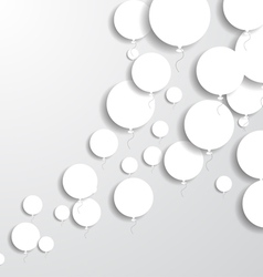 Paper Balloons vector image