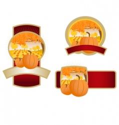 Pumpkin label vector