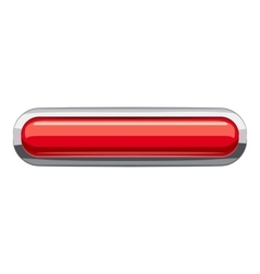 Red rectangular button icon cartoon style vector image