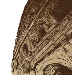 Rome coliseum drawing vector